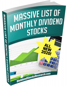 2020 Monthly Dividend Stocks
